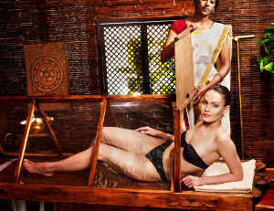 bigstock-Woman-having-Ayurvedic-sauna-t-45688999