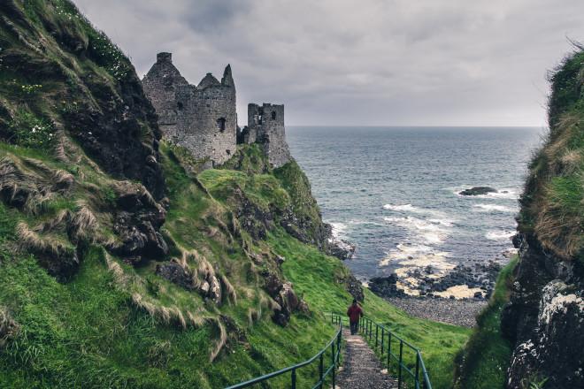 Medieval castle on the sea coast, Ireland