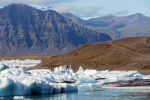 Iceland. Icebergs at Jokulsarlon Glacier Lagoon in summer