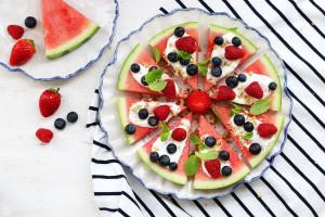 Letní melounová pizza