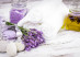 Lavender spa with rebbles, candles and white towels